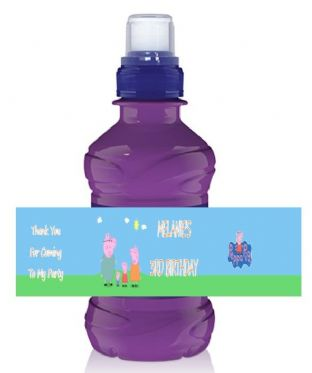 Peppa Pig Bottle Label Wrapper.